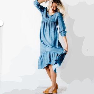 Roolee Mom Dress in Blue (Medium)